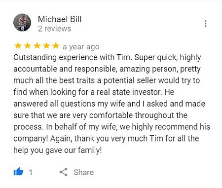 google review gordon buys homes