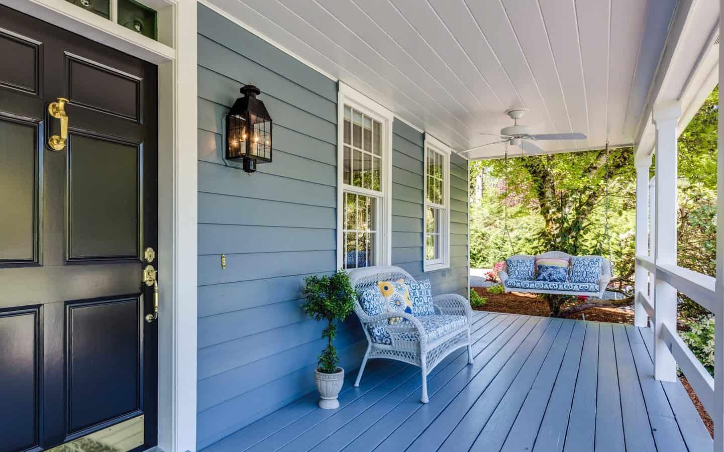 nice looking porch